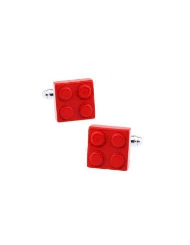 Butoni Lego roșu metal