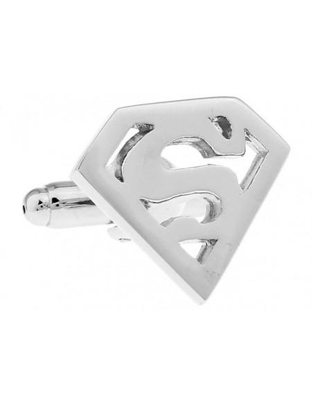 Butoni Superman argintiu