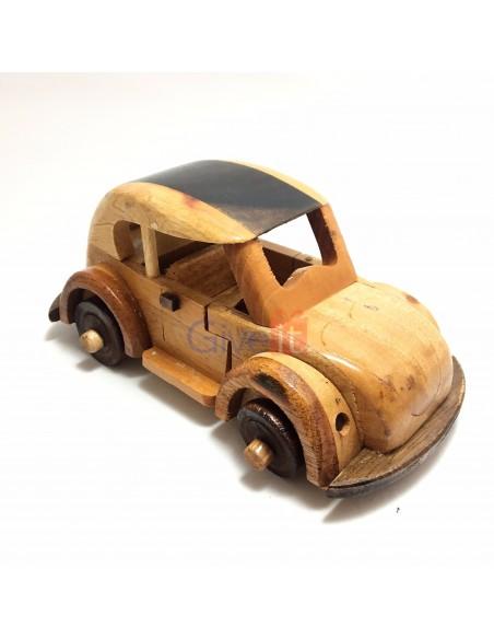 Mașină broscuță lemn