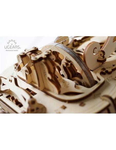 Hurdy Gurdy puzzle 3D mecanic UGears (Flașnetă)