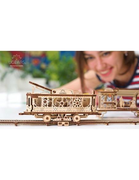 Linia de tramvai Orașul mecanic UGears kit modele mecanice