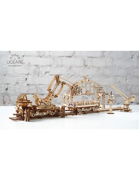 Manipulatorul pe șine - Orașul mecanic UGears - kit modele mecanice