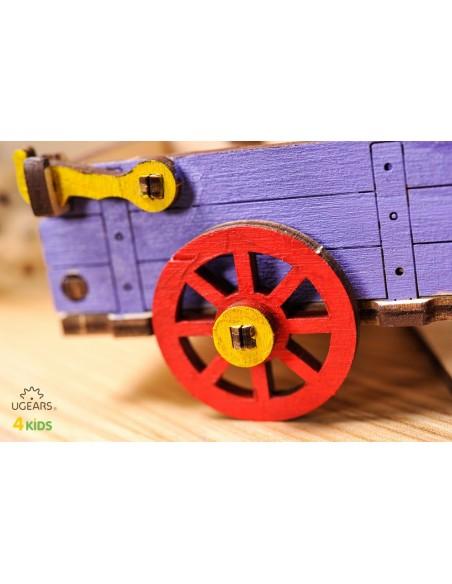 Măgăruș - UGears 4Kids - puzzle 3d lemn de colorat pentru copii