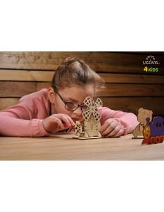 Moara - UGears 4Kids - puzzle 3d lemn de colorat pentru copii