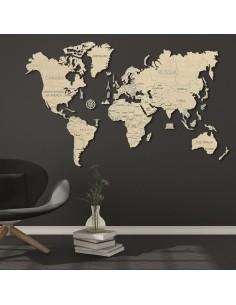 Harta lumii puzzle 3D lemn XL
