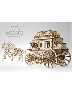Stagecoach (Trăsură / Diligență) UGears kit modele mecanice