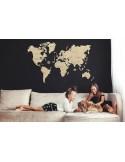 Harta lumii puzzle 3D lemn XXL