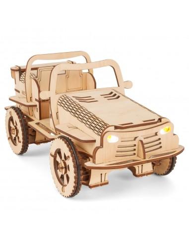 EcoBot Buggy puzzle 3D controlabil prin telefon