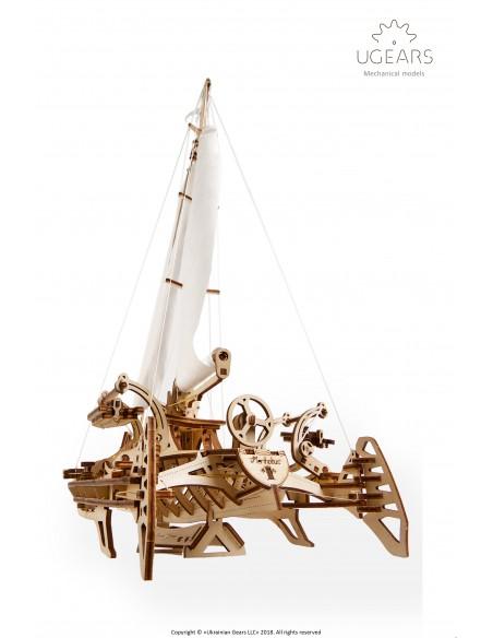 Barcă Trimaran Merihobus UGears modele mecanice