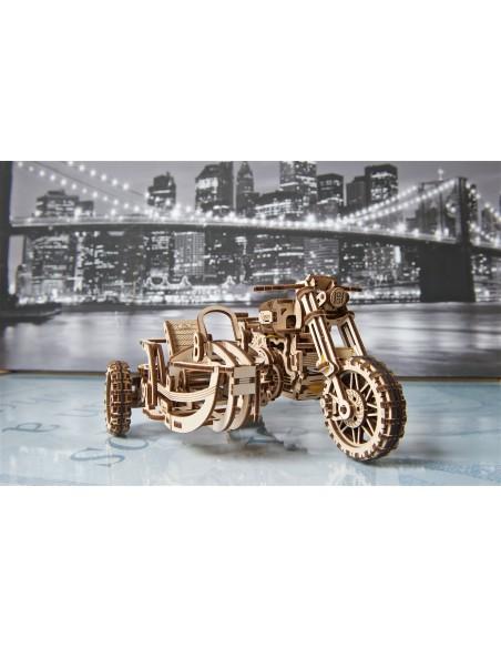 ugears motocicleta scramble ugr 10 puzzle 3D lemn model mecanic 3