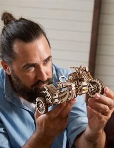 ugears motocicleta scramble ugr 10 puzzle 3D lemn model mecanic