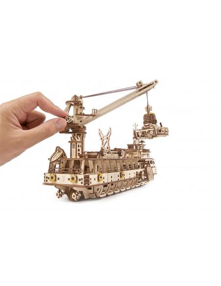 Nava de cercetare (Research vessel) UGears puzzle 3D lemn ...