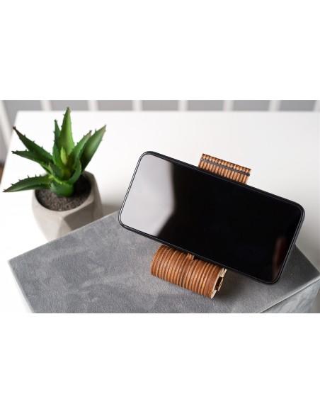 suport pliabil pentru telefon foldable phone holder ugears puzzle 3D lemn model mecanic 3