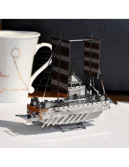 Geobukseon - Barca Țestoasă puzzle 3D metalic XXL