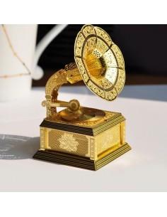 Fonograf puzzle 3D metalic XXL