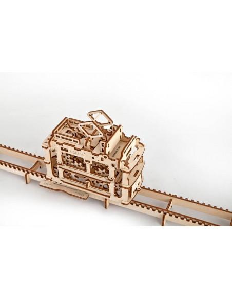 Tramvai cu sine - kit modele mecanice UGears