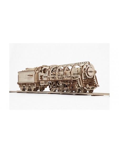 Locomotiva cu aburi - kit modele mecanice UGears