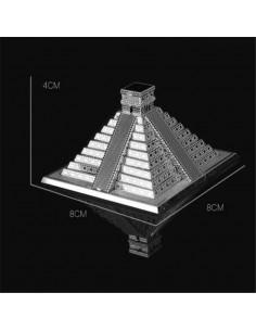 Piramida Mayașă puzzle 3D metalic