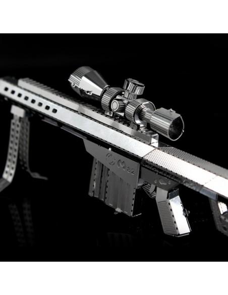 Pușcă cu lunetă puzzle 3D metalic