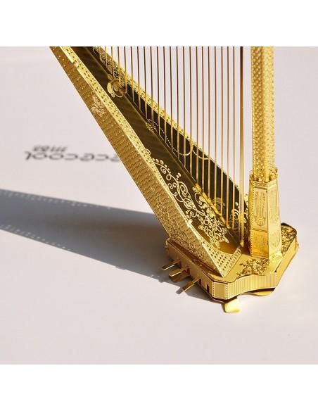 Harpă puzzle 3D metalic XXL