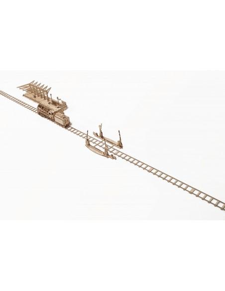 Șine și barieră - kit modele mecanice UGears