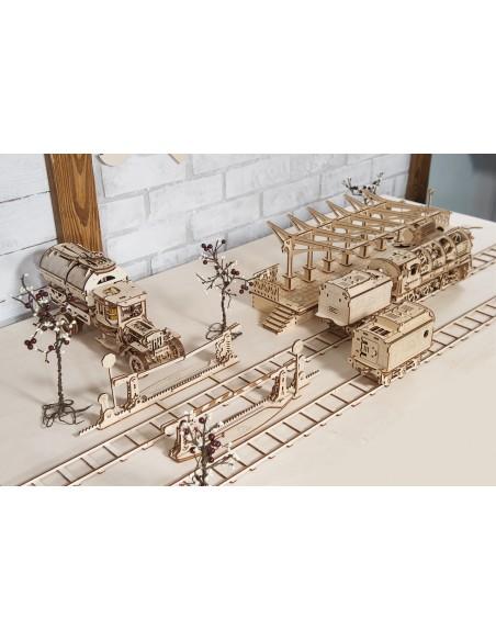 Pachet Locomotivă - kit modele mecanice UGears