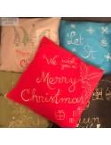 Pernă decorativă Crăciun (neagră) - pictată manual