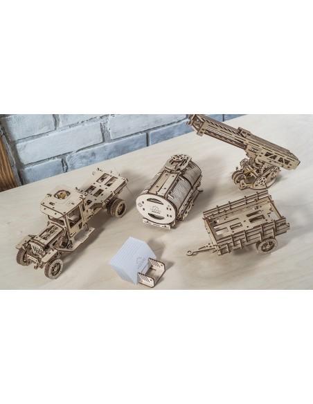 Pachet Camion UGM-11 și accesorii - kit modele mecanice UGears