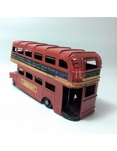 Macheta vintage decorativa Autobuz Doubledecker Londra mic