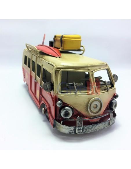 Macheta decorativa vintage Campervan roșu