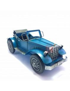Mașină decapotabilă albastră macheta decorativa vintage